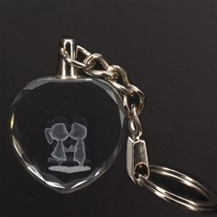 Couple 3D Engraving Heart Key Chain