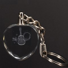 Guitar 3D Engraving Heart Key Chain