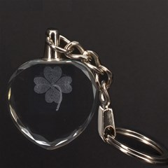 Clover 3D Engraving Heart Key Chain