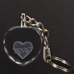 Heart 3D Engraving Heart Key Chain