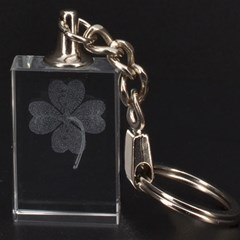 Clover 3D Engraving Key Chain