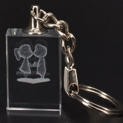 Couple 3D Engraving Key Chain