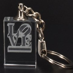Love 3D Engraving Key Chain