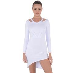 Asymmetric Cut-Out Shift Dress