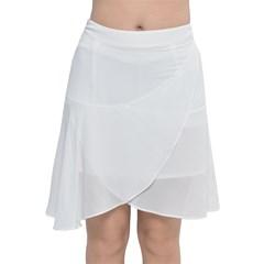 Chiffon Wrap Front Skirt