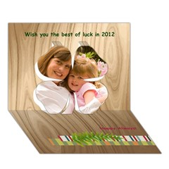 Clover 3D Greeting Card (7x5)
