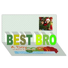BEST BRO 3D Greeting Card (8x4)