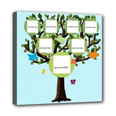 colorful and fun family tree - Mini Canvas 8  x 8  (Stretched)