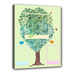 mom, dad and me - family tree - Canvas 14  x 11  (Stretched)