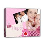 flower , kids, happy, fun, green - Deluxe Canvas 14  x 11  (Stretched)