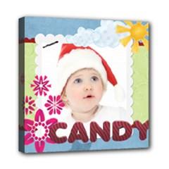 kids, fun, child, play, happy - Mini Canvas 8  x 8  (Stretched)