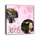 love - Mini Canvas 6  x 6  (Stretched)