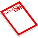 Shopping List - Red - Large Memo Pads