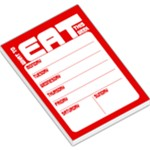 Weekly Planner - Red - Large Memo Pads