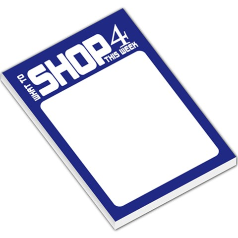 Shopping List   Blue By Mum2 3boys   Large Memo Pads   Gt1vwjoomq8d   Www Artscow Com