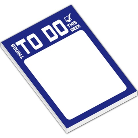 To Do List   Blue By Mum2 3boys   Large Memo Pads   Jxwf7c34zbsd   Www Artscow Com