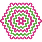 pink green chevron - Mini Folding Umbrella