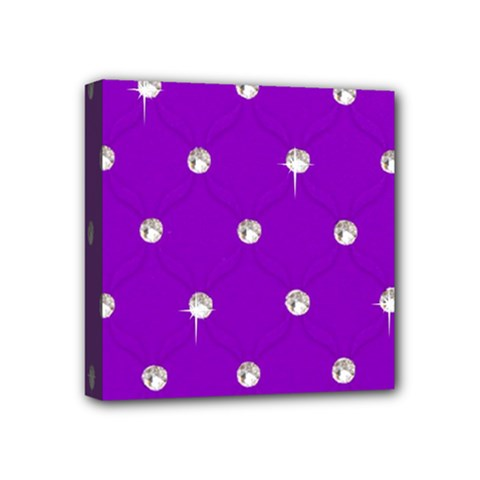 Royal Purple Sparkle Bling 4  X 4  Framed Canvas Print by artattack4all