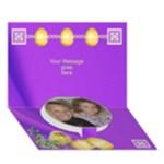 Happy Easter 3D Circle card - Circle Bottom 3D Greeting Card (7x5)