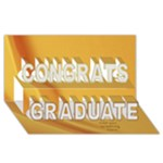 Well Done Graduate 3D Card - Congrats Graduate 3D Greeting Card (8x4)