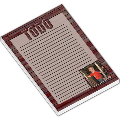 Brick Large Memo Pad By Chere s Creations   Large Memo Pads   Qphaiu9r5kev   Www Artscow Com
