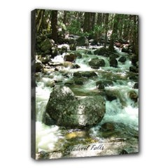 3 yrs ago at bridalveil trail  - Canvas 16  x 12  (Stretched)