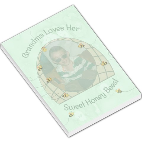 Grandma s Sweet Honey Bees Large Memo Pad By Chere s Creations   Large Memo Pads   Ra57qczo7bjv   Www Artscow Com