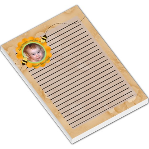 Grandma Loves Her Sweet Honey Bee Large Memo Pad2 By Chere s Creations   Large Memo Pads   Mv4arvyk50un   Www Artscow Com