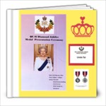 QE II Diamond Jubilee Medal -   Feb. 2.2013 - 8x8 Photo Book (20 pages)