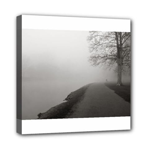 Foggy Morning, Oxford 8  X 8  Framed Canvas Print by artposters
