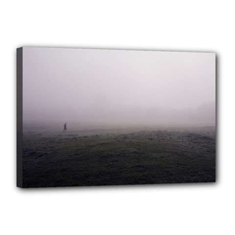 Foggy Morning, Oxford 12  X 18  Framed Canvas Print by artposters