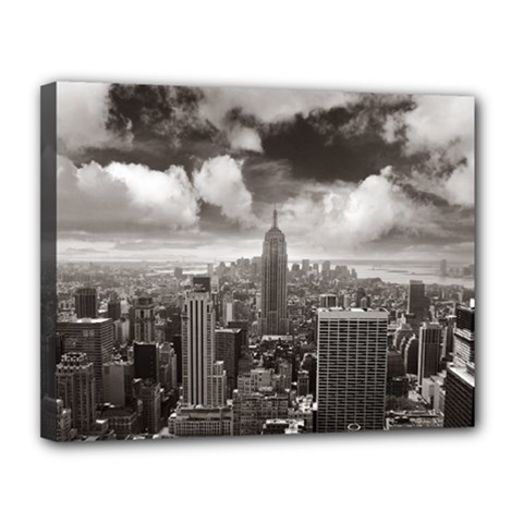 New York, Usa 11  X 14  Framed Canvas Print by artposters
