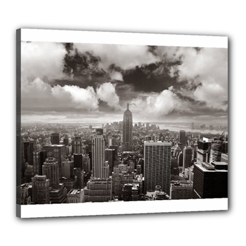 New York, Usa 20  X 24  Framed Canvas Print by artposters