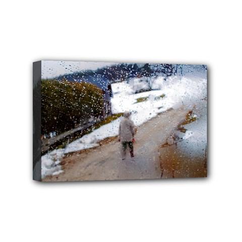 Rainy Day, Salzburg 4  X 6  Framed Canvas Print by artposters