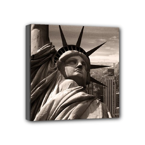 Statue of Liberty, New York 4  x 4  Framed Canvas Print