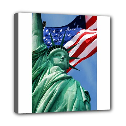 Statue Of Liberty, New York 8  X 8  Framed Canvas Print by artposters