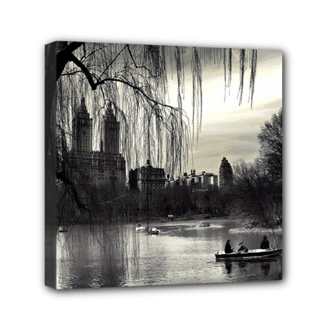 Central Park, New York 6  X 6  Framed Canvas Print by artposters