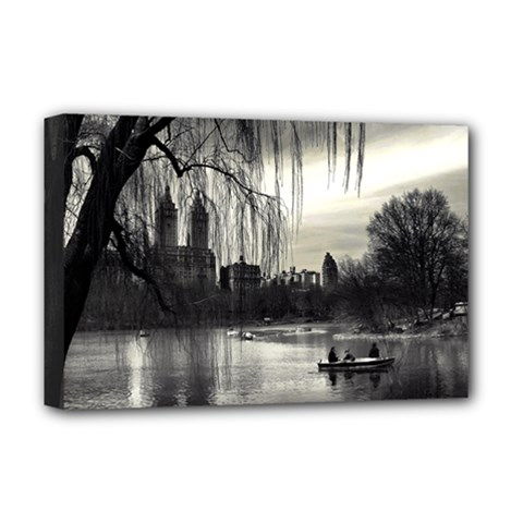 Central Park, New York Deluxe Canvas 18  X 12  (stretched) by artposters