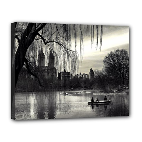 Central Park, New York 11  X 14  Framed Canvas Print by artposters