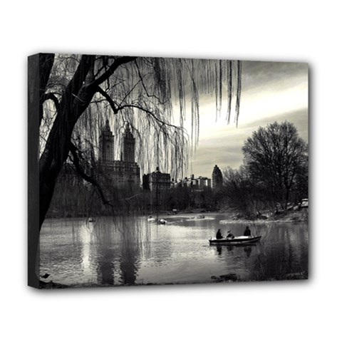 Central Park, New York Deluxe Canvas 20  X 16  (stretched) by artposters