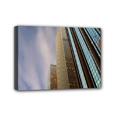 Skyscrapers, New York 5  X 7  Framed Canvas Print by artposters