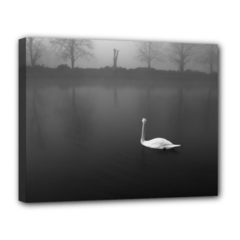 Swan 11  X 14  Framed Canvas Print by artposters