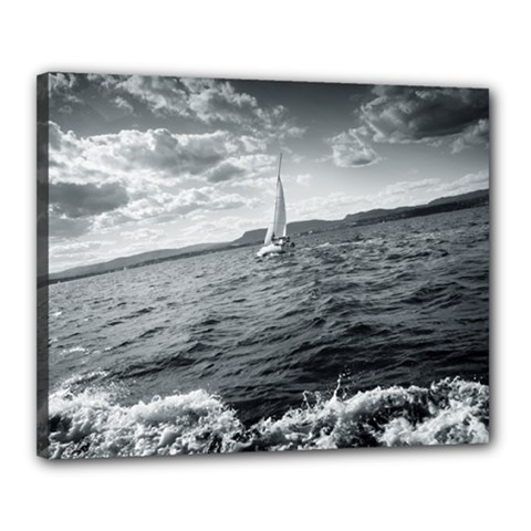 Sailing 16  X 20  Framed Canvas Print by artposters