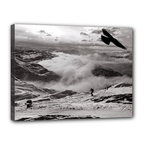 Untersberg Mountain, Austria 12  X 16  Framed Canvas Print by artposters