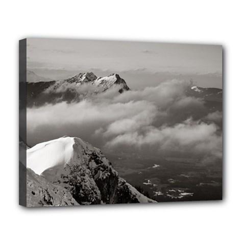 Untersberg Mountain, Austria 11  X 14  Framed Canvas Print by artposters