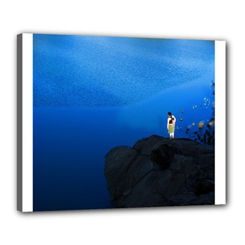 Central Park, New York 16  X 20  Framed Canvas Print by artposters