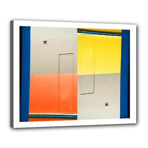 Geometry 16  X 20  Framed Canvas Print by artposters