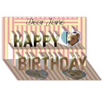3d-birthday card  with your photo , messages - and   teddy bears - Happy Birthday 3D Greeting Card (8x4)