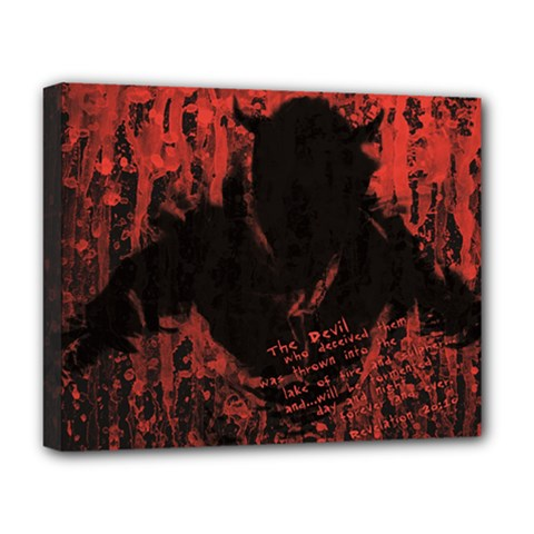 Tormented Devil Deluxe Canvas 20  X 16  (stretched) by VaughnIndustries