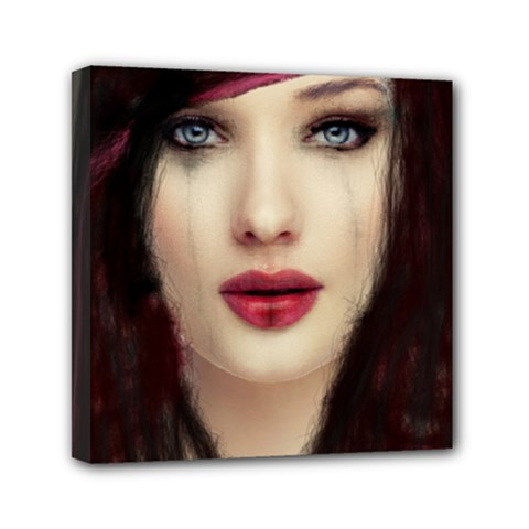 Beautiful Mess 6  X 6  Framed Canvas Print by VaughnIndustries